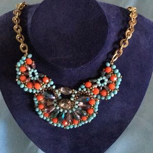 Jewelry - Necklace turquoise and coral color stones